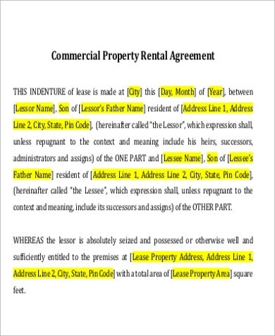 7+ Property Lease Agreement Samples Sample Templates - property lease agreement sample