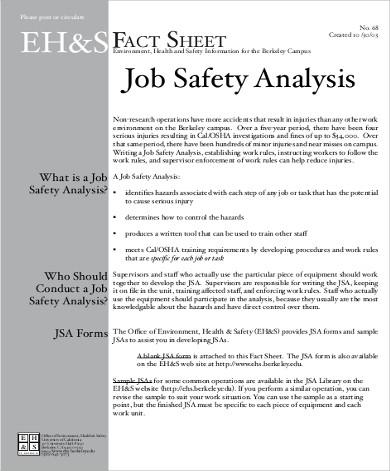 8+ Job Analysis Samples Sample Templates