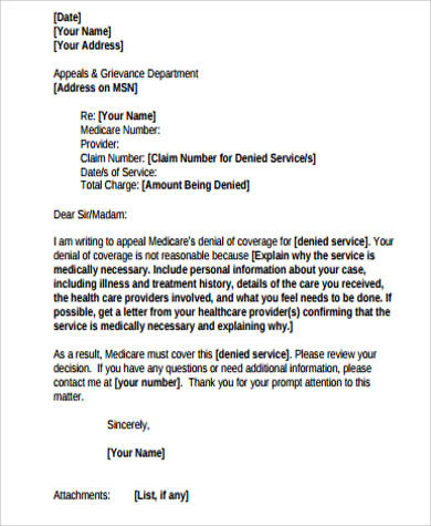8+ Sample Appeal Letters Sample Templates - example of appeal letter