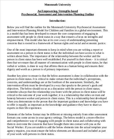 Sample Psychosocial Assessment Child Psychosocial Assessment Form - psychosocial assessment