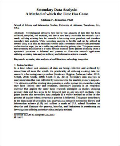 10+ Sample Data Analysis - PDF, Word Format Download