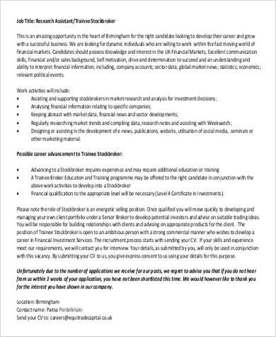 Stock Broker Job Description Stock Clerk Resume Stock Job - stock broker resume