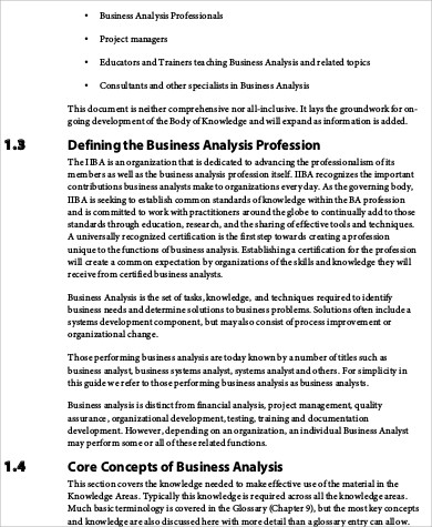 9+ Sample Business Analysis - Free Sample, Example, Format Download - sample needs analysis