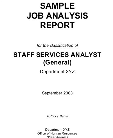 6+ Sample Job Analysis Sample Templates - job analysis