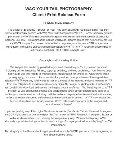 sample print release form example efficiencyexperts - print release form
