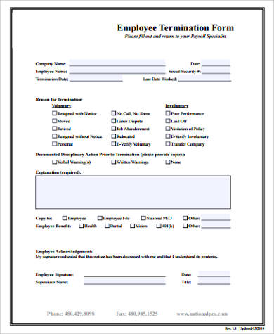 11+ Sample Employee Forms Sample Templates