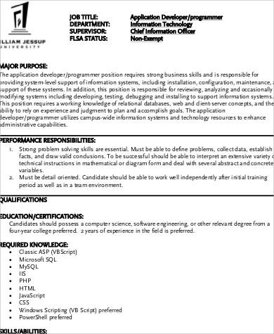 Computer Engineer Job Description Computer Engineer Salary What - software developer job description