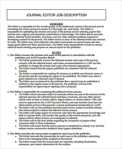 Executive Editor Job Description Associate Editor Job Description - executive editor job description