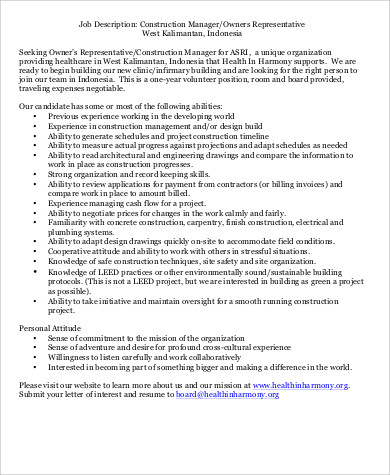 electrical construction manager job description - Goalgoodwinmetals