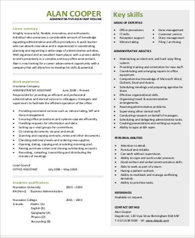 8+ Job Objective Samples Sample Templates - job objective for administrative assistant