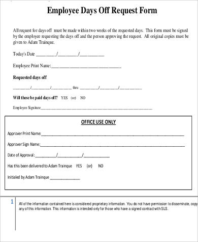 request day off form - Josemulinohouse - day off request form