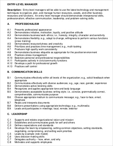 8+ Construction Management Job Description Samples Sample Templates