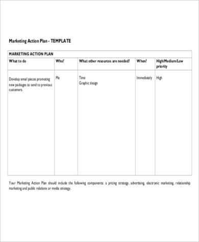 Free Action Plan - 38+ Examples in Word, PDF, Excel - marketing action plan template