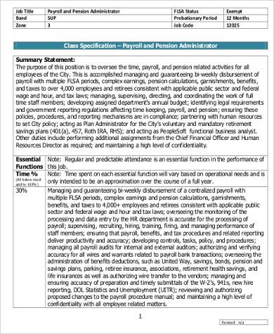 Senior Accountant Payroll Job Description Sample Job - oukasinfo - senior accountant job description