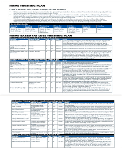 Sample Weekly Exercise Plans - 6+ Examples in Word, PDF