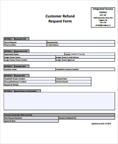 11+ Sample Customer Request Forms Sample Templates