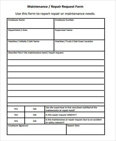 Sample Service Request Forms - superior service application form