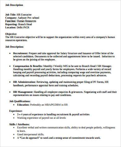 Payroll Job Description payroll specialist cover letter sample