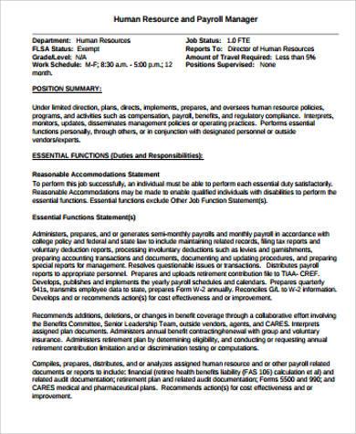 catering manager job description
