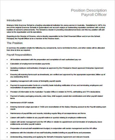 payroll manager job description sample resume payroll resume - payroll specialist job description