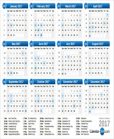 6+ Printable Calendar PDF Samples Sample Templates - printable calendar pdf