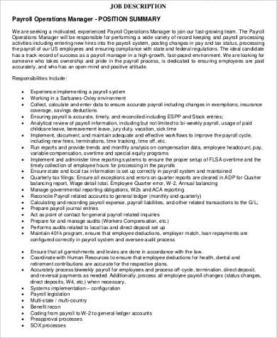 ... Payroll Coordinator Job Description Cvresumeunicloudpl   Payroll  Coordinator Job Description ...