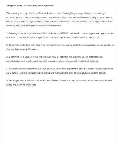 8+ Sample Resume Objectives Sample Templates