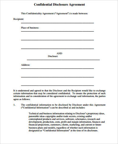 9+ Sample Confidentiality Agreement - Free Sample, Example, Format