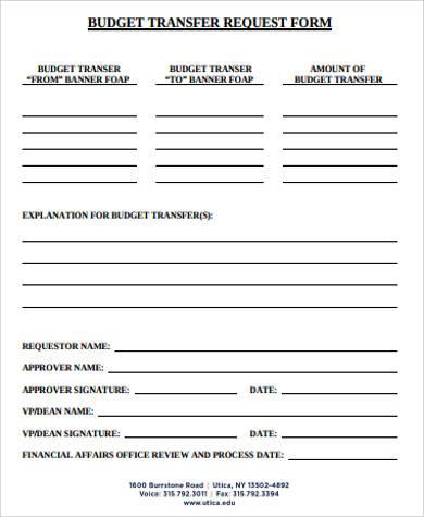 Transfer Request Form colbro