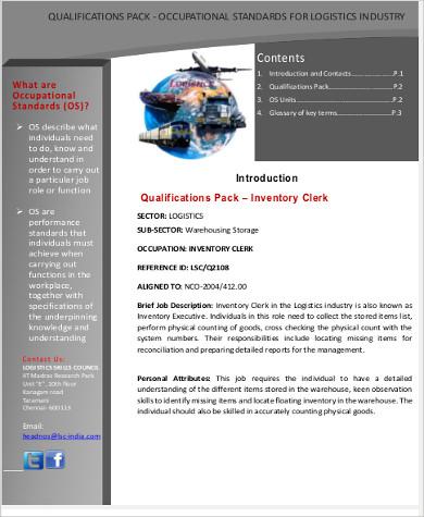 7+ Logistics Clerk Job Description Samples Sample Templates - logistics clerk job description
