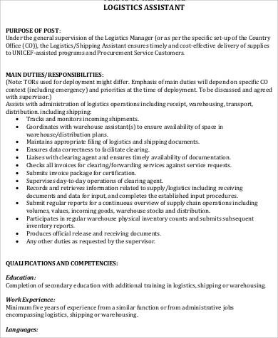 Logistics Clerk Job Description | colbro.co
