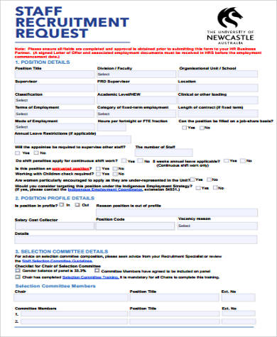7+ Sample Recruitment Request Forms Sample Templates - software request form