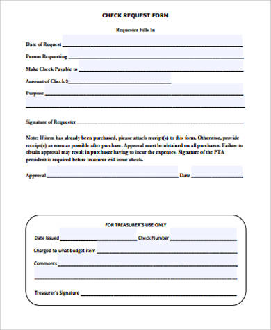 Sample Request Form - 12+ Examples in Word, PDF - check request forms