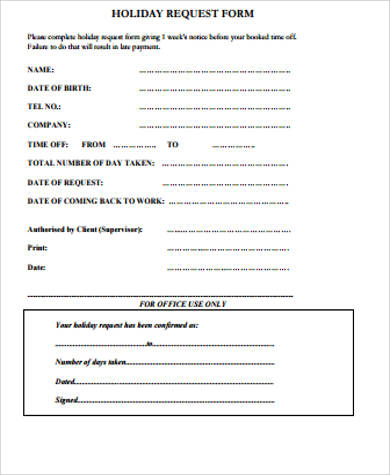 Sample Request Form - 12+ Examples in Word, PDF