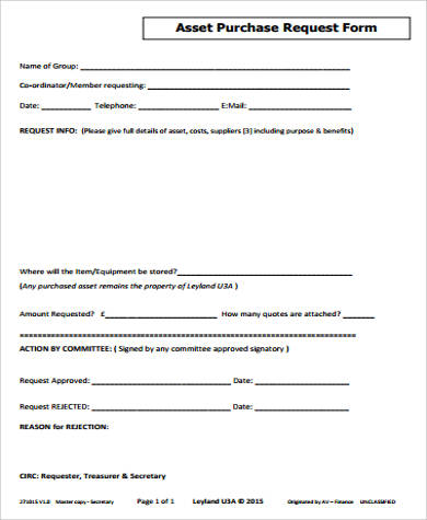 Sample Purchase Request Form - 10+ Examples in Word, PDF