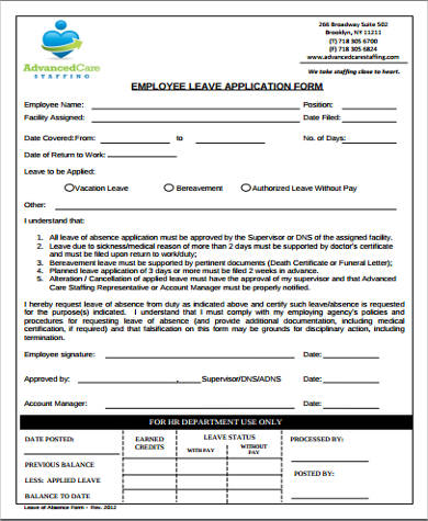 6+ Sample Employee Application Forms Sample Templates - Employee Application