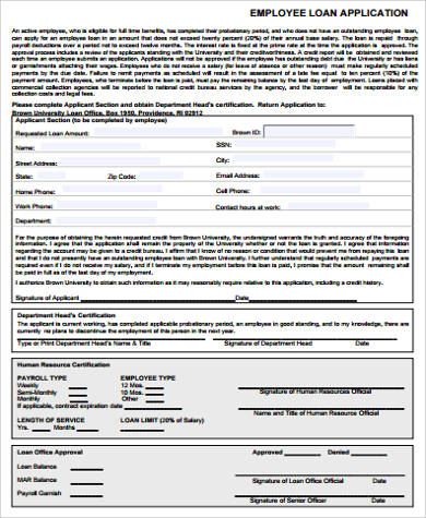 6+ Sample Employee Application Forms Sample Templates - employee application forms
