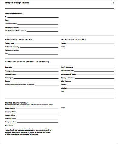 7+ Blank Invoice Samples in PDF Sample Templates - blank invoice samples