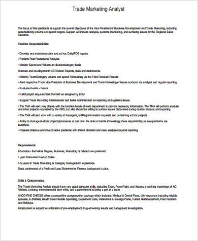 trade marketing job description - 28 images - marketing coordinator