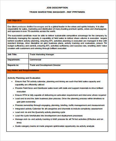Trade Marketing Job Description trade marketing job description - trade marketing job description