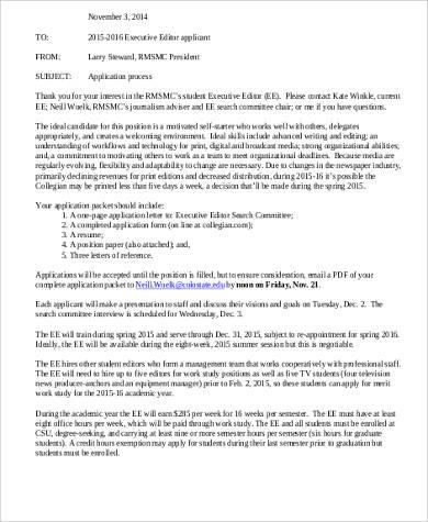 4+ Executive Editor Job Description Samples Sample Templates - executive editor job description