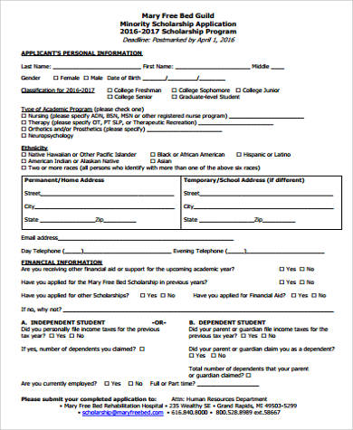 9+ Sample Application Form - Free Sample, Example, Format Download