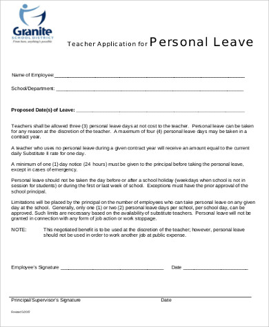 leave application forms hitecauto - school leave application