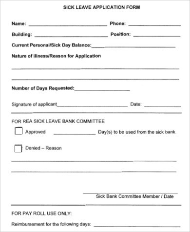 sick leave form template - Towerssconstruction