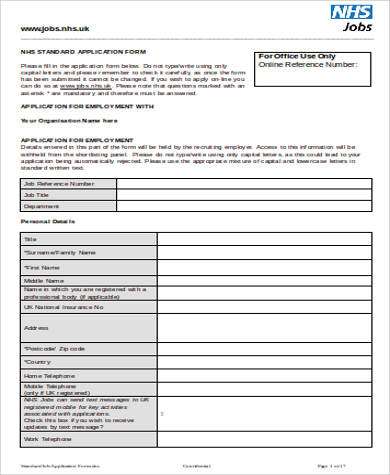 7+ Sample Employment Application - Free Sample, Example, Format Download