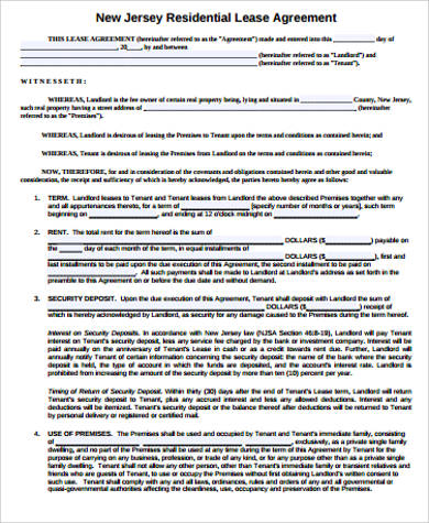 42+ Sample Lease Agreements Sample Templates
