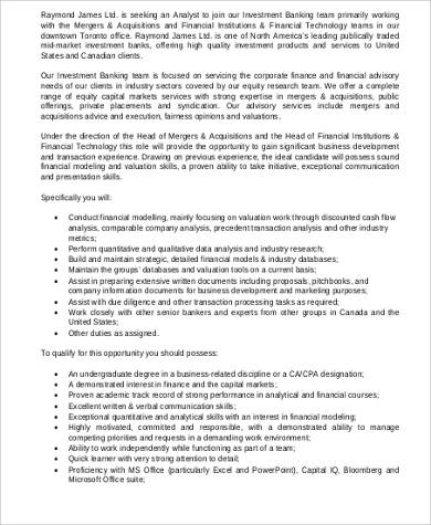 Amazing Investment Banker Job Description Investment Banker Job Description Sample    7+ Examples In Word, PDF   Investment Banker ... Pictures Gallery