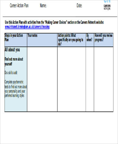 career plan worksheet - Intoanysearch - action plan work sheet