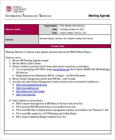 30+ Agenda Format Samples Sample Templates