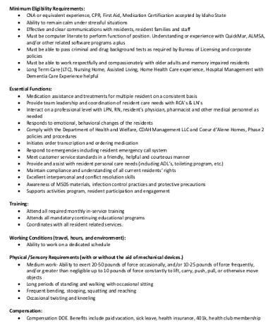 resident assistant description - Teacheng